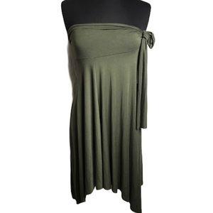 Elan Army Green Wear 4 Way Skirt Cover Up